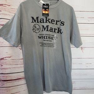 Makers Mark mens whiskey t shirt new large